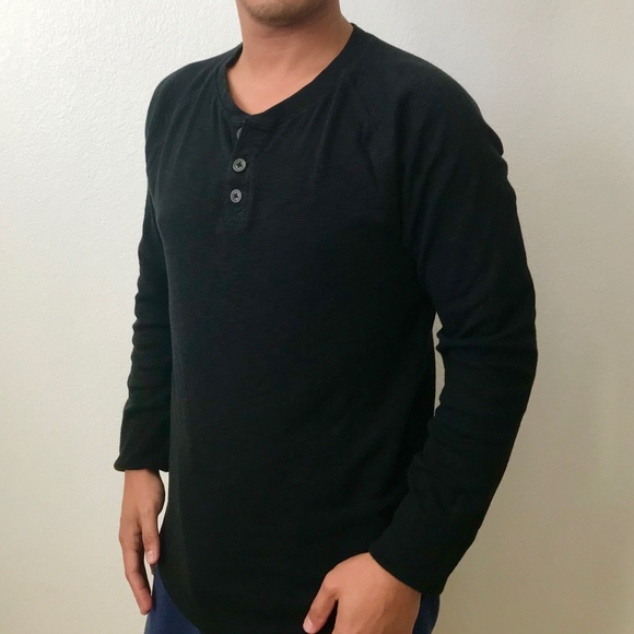 6b45f954 Mossimo Supply Co. Shirts | Mossimo Supply Co Mens Black Henley ...